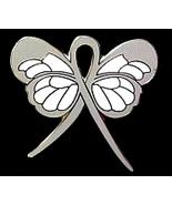 Dyslexia Lapel Pin Gray Awareness Ribbon Butter... - $10.97