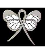 Sciatic Pain Lapel Pin Gray Awareness Ribbon Bu... - $10.97