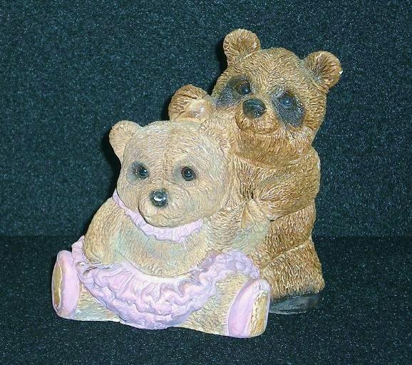 Teddy Bear Dancers Figurine United Designs, 1991 USA