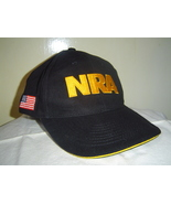 NEW Black & Gold NRA Baseball Cap Hat with Amer... - $14.00