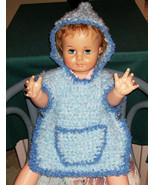 Childs Hooded Baby Poncho with Puppy Side closu... - $10.00