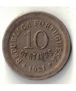 1921 PORTUGAL 10 CENTAVOS SILVER COIN #24185 - $10.00