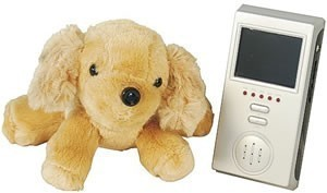 Stuffed Dog AUDIO/VIDEO BABY MONITOR w/Portable LCD Display