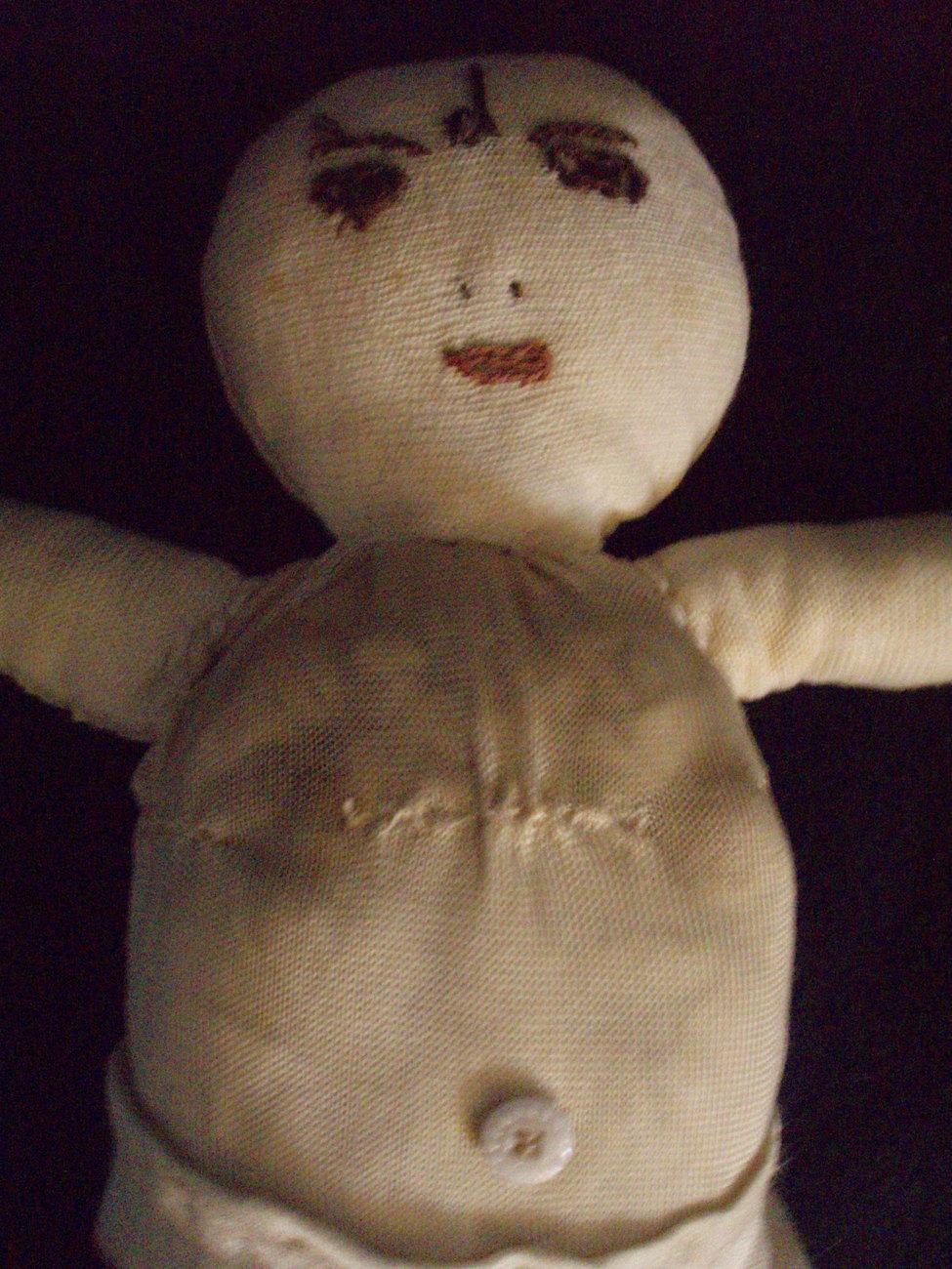 '.antique silk cloth doll.'