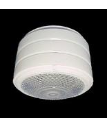 Utility Ceiling Light Shade Clear White Glass V... - $11.95