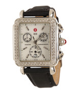 Michele Stainless Steel and Diamond Deco Watch - $995.00