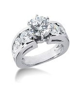 F VS1 diamonds  Engagement ring women  with acc... - $8,971.37