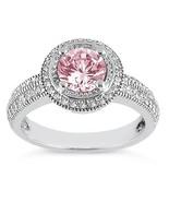 Round halo pink diamond ring engagement 2.31 ca... - $9,667.66