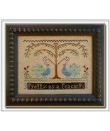 CLEARANCE Pretty As A Peacock cross stitch char... - $4.00