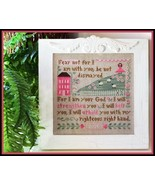 CLEARANCE Fear Not breast cancer cross stitch L... - $4.00