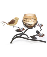 Tealight Holder candleholder birds nest w bronz... - $6.49