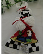 Hand Crocheted Dishrags & Towel Bunny  - $20.00