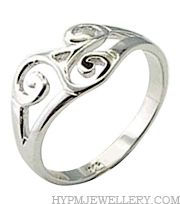 Handcrafted Sterling Silver Trinity Knot Celtic Ring