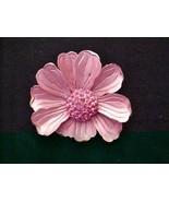 Gorgeous Pink Petal Flower Rhinestone Enamel BR... - $44.55