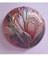Stunning Enamel BROOCH PIN Vintage Signed - $44.55