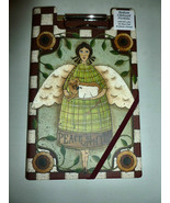 COUNTRY ANGEL BURGUNDY CHECK COUNTRY CLIPBOARD ... - $14.99