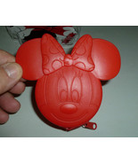 DISNEY'S MINNIE MOUSE FACE RED MOLDED PLASTIC Z... - $6.99
