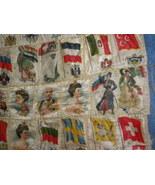 Antique Handcrafted Pillow Top International Fl... - $60.00