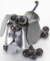 Yardbirds Sculpture, Tiny Hound, Recycled Metal... - $39.95