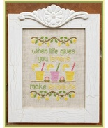 Make Lemonade cross stitch chart Country Cottag... - $7.20