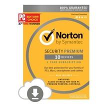 Norton Security Premium + Backup 25GB 10-Device... - $47.99