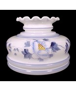 Milk Glass Blue Floral Student Lamp Shade 7 in ... - $34.95