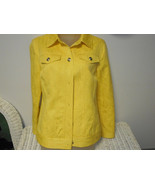 Laura Ashley yellow denim jacket size S - $19.80