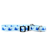 Large Sweet Lil Whales Martingale Dog Collar 20... - $13.99