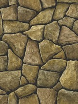 3-D Faux Creek Rock Stone with Black Grout Wall... - $35.66