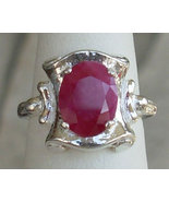 3.40 CT Natural Red Ruby Sterling Silver Ring - $69.00