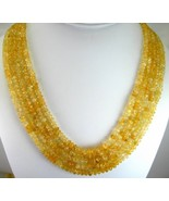 Traditional Rough Natural Golden Citrine 5 Stra... - $323.00