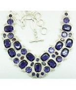 TableTop Faceted Purple Amethyst Rectangles + S... - $377.00