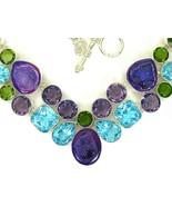 Purple Amethyst Druzy - Drusy + Blue Topaz Peri... - $363.00