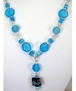Lampwork Focal Arrangement with Aqua Blue Sea G... - $157.00