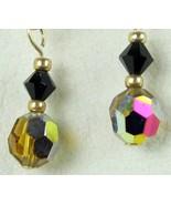 Faceted Vintage Crystals Topaz Gold Filled dang... - $49.00
