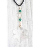 Judy Strobel Swarovski Cut Glass Snowflake Pendant - $34.95