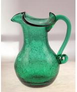 Vintage Rainbow Art Glass green crackle glass p... - $20.00