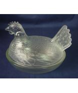 Indiana Glass Clear Hen On Nest Covered Dish Ca... - $12.00