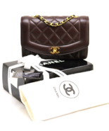 CHANEL Vintage BROWN LAMBSKIN Leather