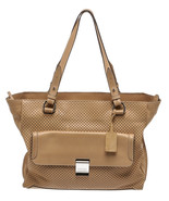Escada Sport Tan Perforated Leather Tote Handbag - $195.00