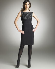 ELIE TAHARI SERVANE LACE DRESS - US 10 - UK 14