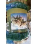 Wolves Wolf in the Wild Royal Plush Raschel Thr... - $24.75