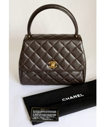 CHANEL Dark Brown Quilted CAVIAR Leather Single... - $1,749.00