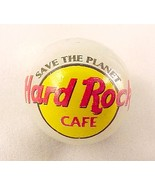 Hard Rock Cafe Marble Logo Pearlized Glass Adve... - $8.00