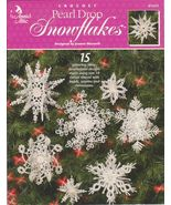 Pearl Drop Snowflakes 3 D Crochet Patterns Anni... - $7.99