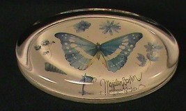 Marjolein Bastin Paper Weight Glass Oval Blue B... - $8.55