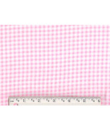 Pink Gingham Flannel, cotton quilting fabric ba... - $6.90