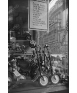 Scooters & Toys In Window Display Vintage 8x12 ... - $23.30