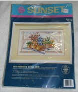 VTG 1992 Sunset Southwest Still Life Counted Cr... - $17.49