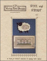 Wool and Whimsy cross stitch chart Waxing Moon ... - $7.20